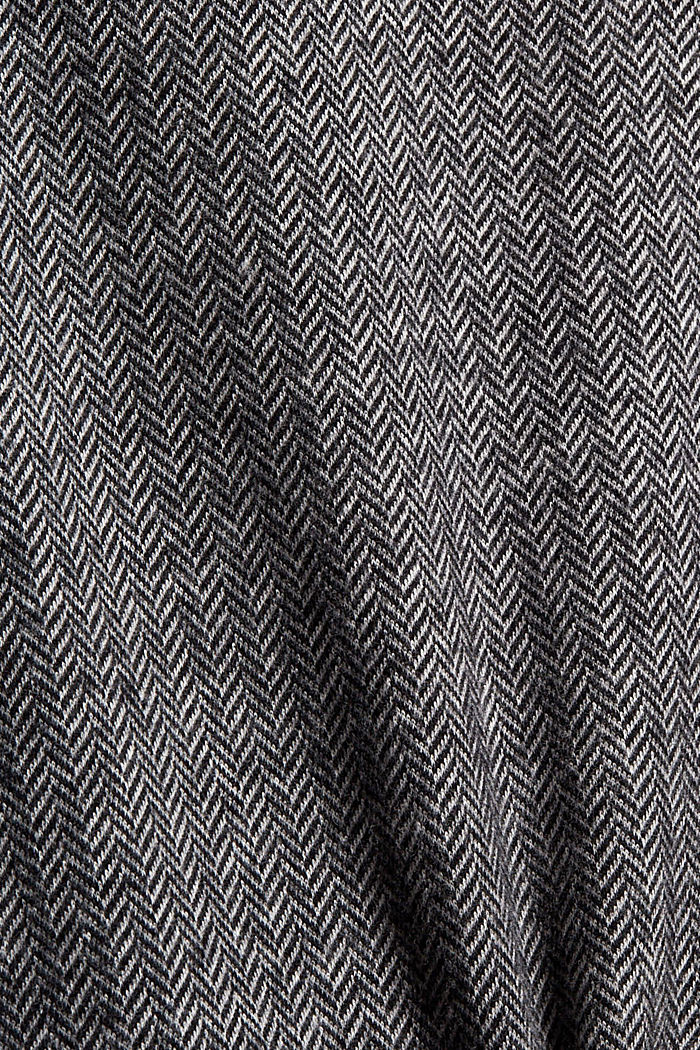 Jupe en maille au look portefeuille, coton biologique mélangé, GUNMETAL, detail image number 4