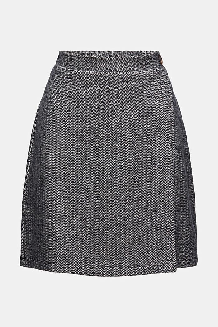 Stickad kjol i omlottlook, ekobomullsmix