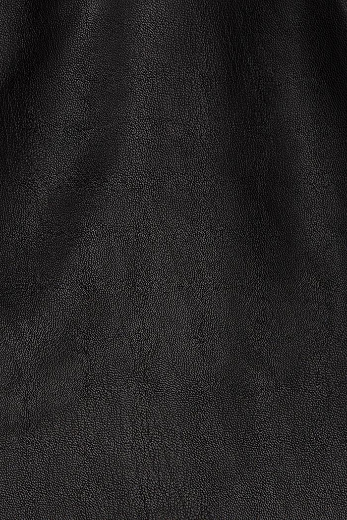 Minirok in leerlook, BLACK, detail image number 4
