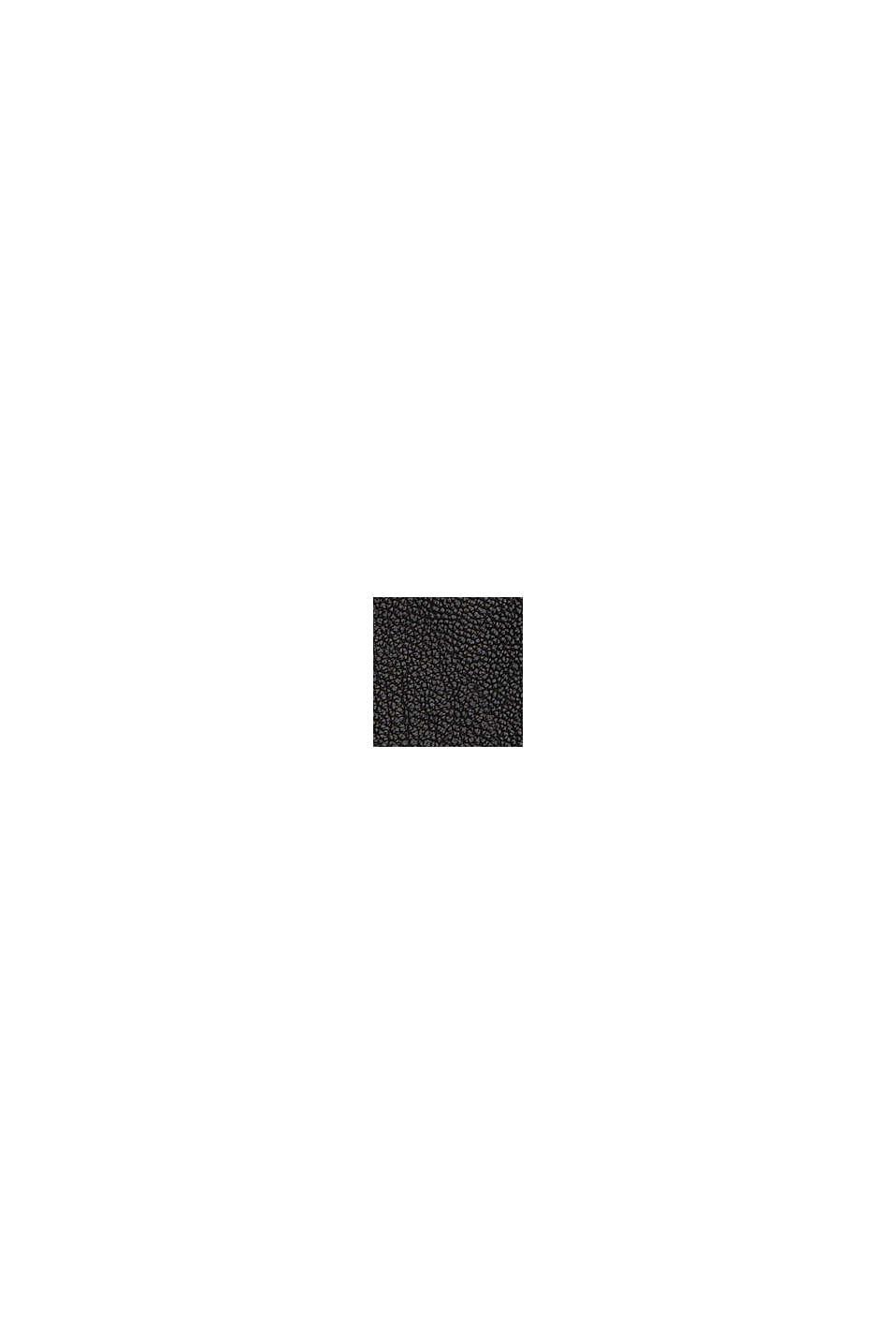 Minikjol i skinnlook, BLACK, swatch