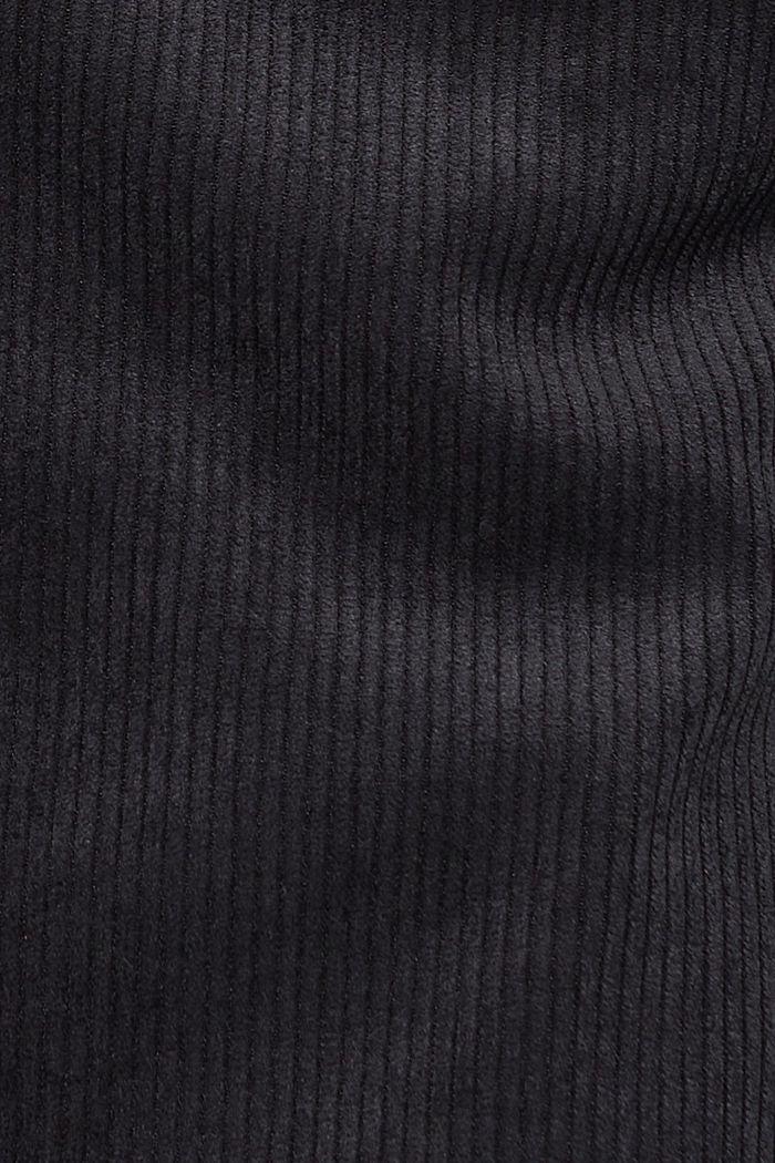 Recycelt: Minirock aus Cord mit Knopfleiste, BLACK, detail image number 4