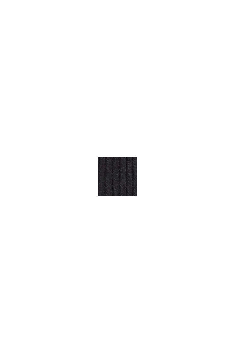 In materiale riciclato: minigonna in velluto con abbottonatura, BLACK, swatch