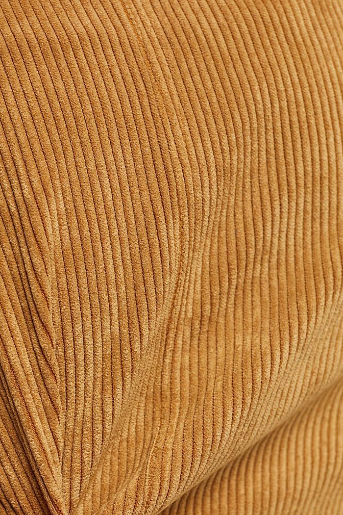 Gerecycled: minirok van corduroy met knoopsluiting, CAMEL, detail image number 4