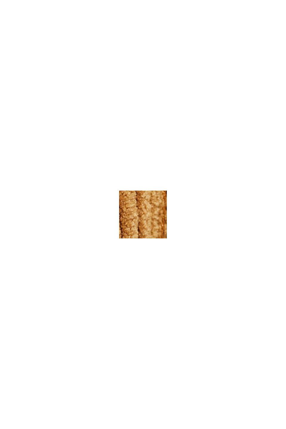 In materiale riciclato: minigonna in velluto con abbottonatura, CAMEL, swatch