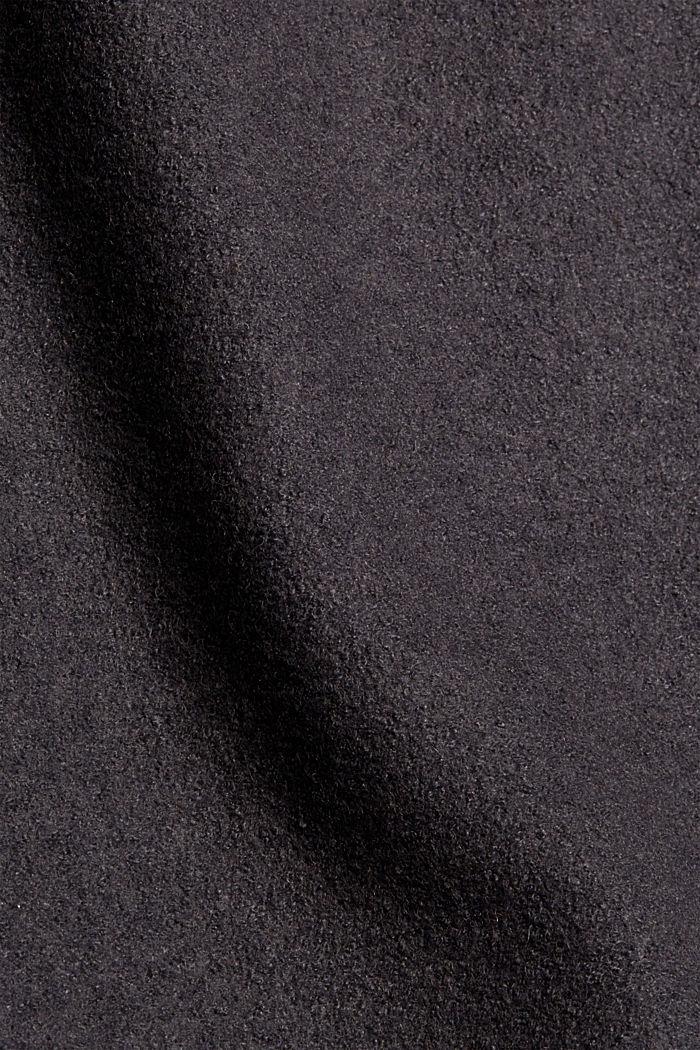 Mit Wolle: Minirock mit hohem Bund, ANTHRACITE, detail image number 4
