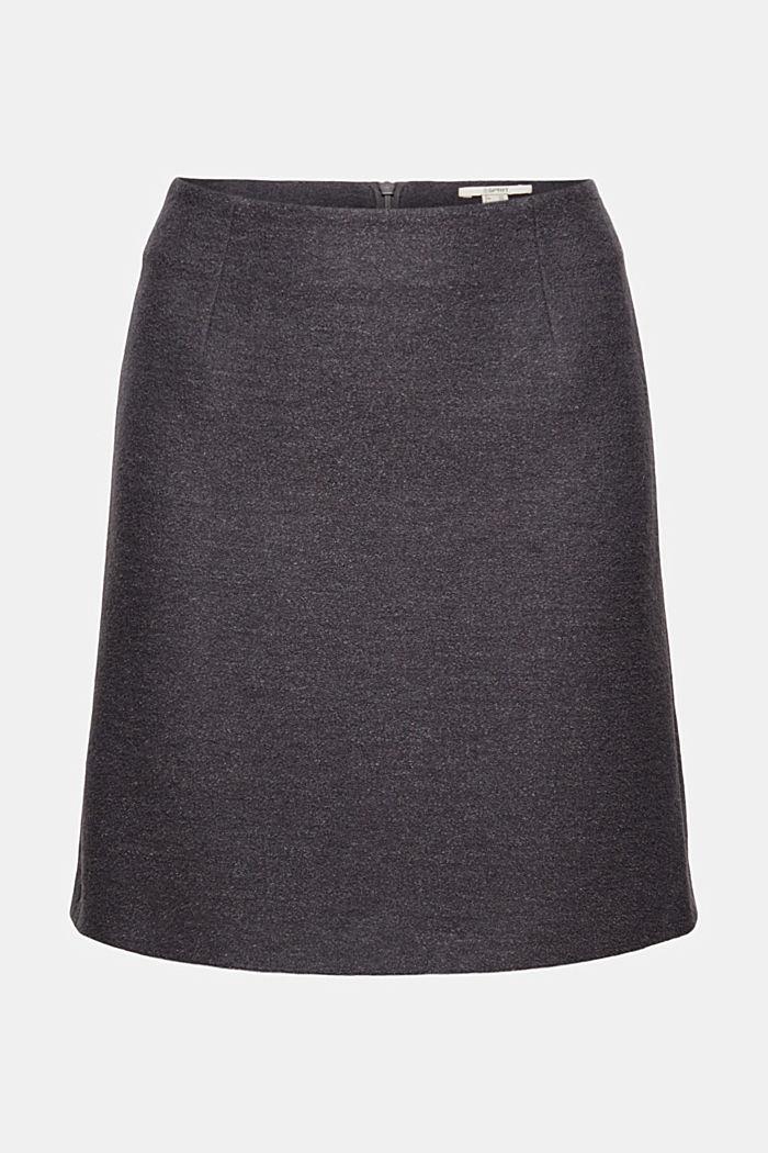 Med ull: minikjol med hög midja
