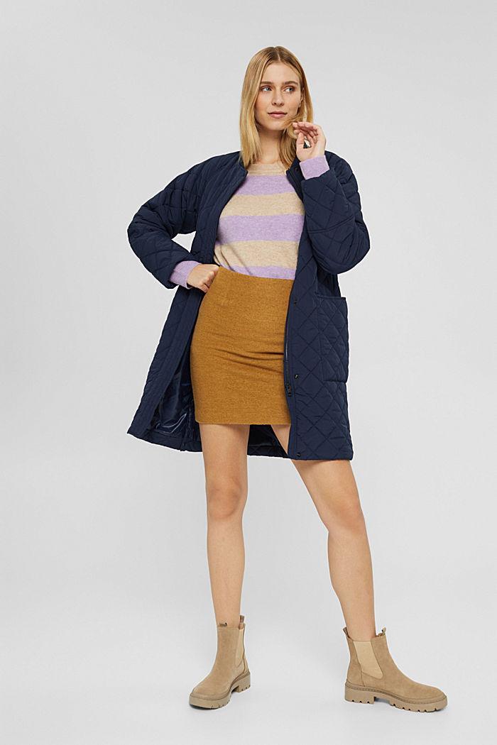 À teneur en laine: la mini-jupe taille haute, CAMEL, detail image number 1