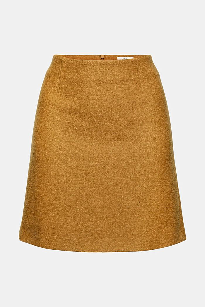 À teneur en laine: la mini-jupe taille haute