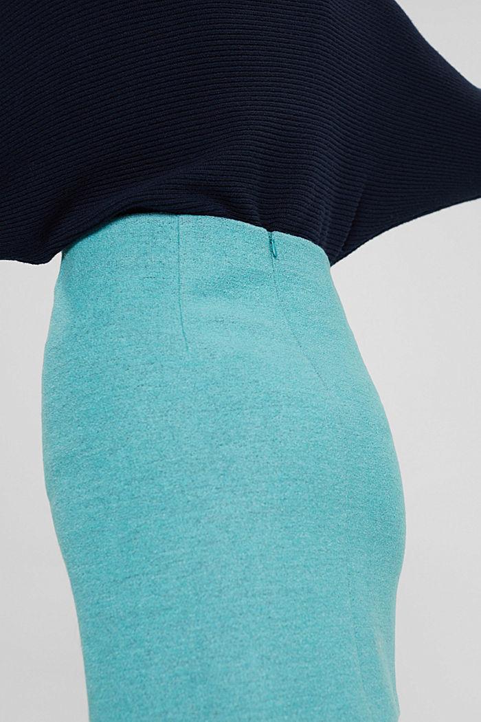 Mit Wolle: Minirock mit hohem Bund, TURQUOISE, detail image number 2