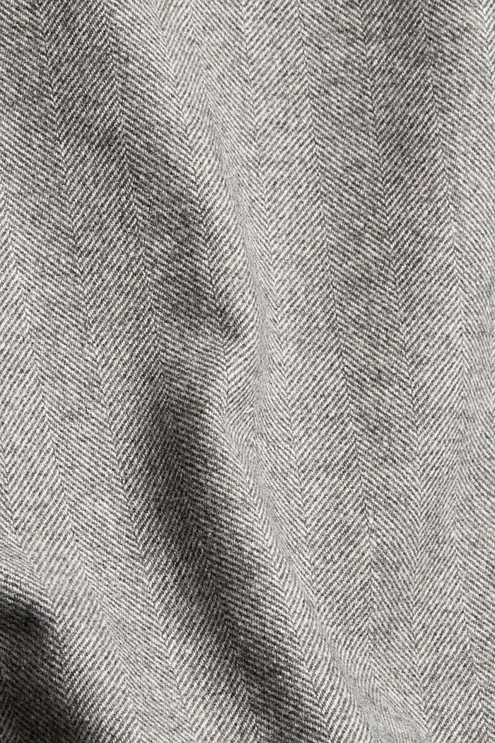 Met wol: minirok met visgraatmotief, ANTHRACITE, detail image number 4