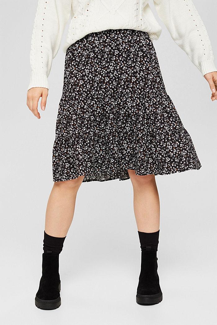 Light woven Skirt, BLACK, detail image number 0