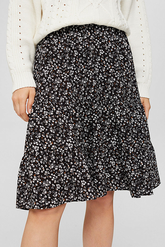Light woven Skirt, BLACK, detail image number 2