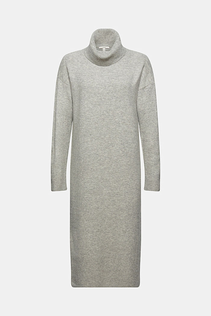 À teneur en laine/alpaga: la robe-pull à col roulé
