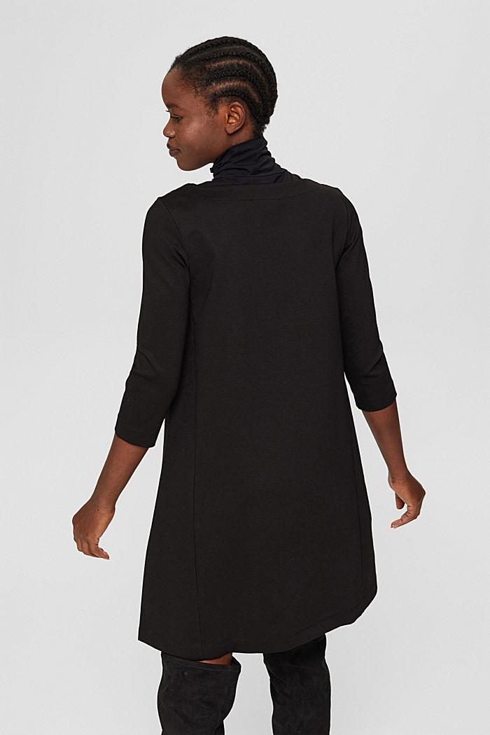 Robe évasée en jersey, LENZING™ ECOVERO™, BLACK, detail image number 2