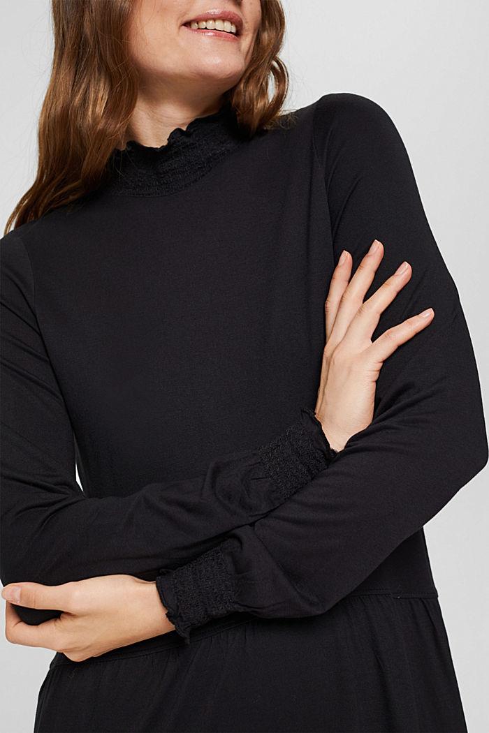 Robe en maille, BLACK, detail image number 3