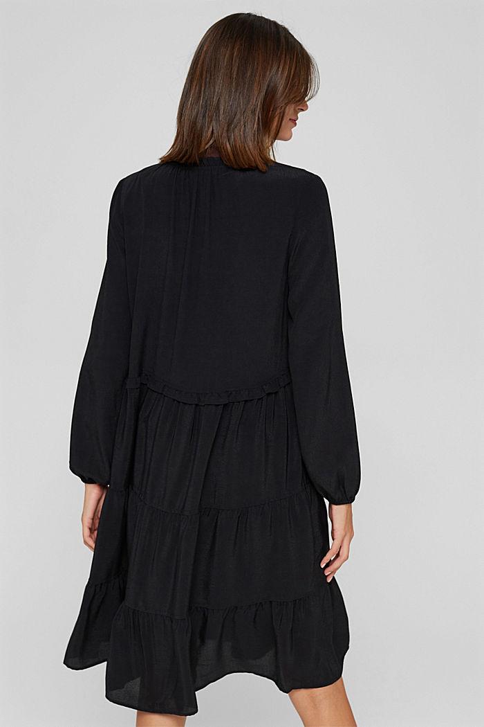 Kleid mit Rüschen und Volants, BLACK, detail image number 2