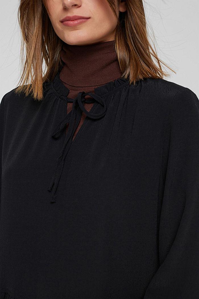 Kleid mit Rüschen und Volants, BLACK, detail image number 3