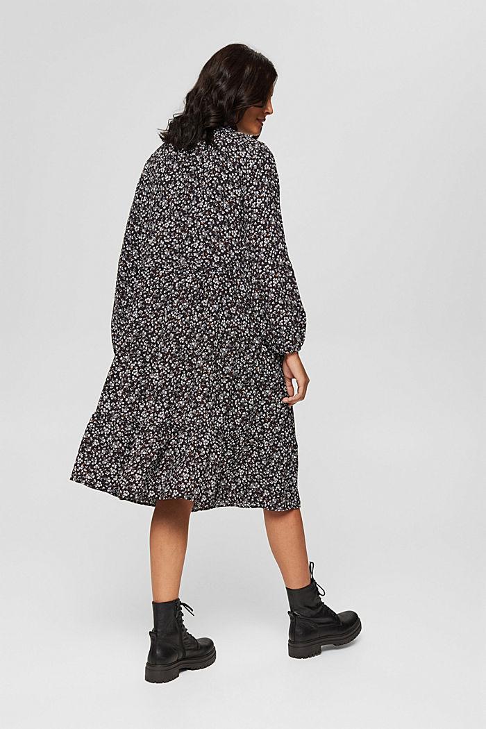 Weites Millefleurs-Kleid mit LENZING™ ECOVERO™, BLACK, detail image number 2