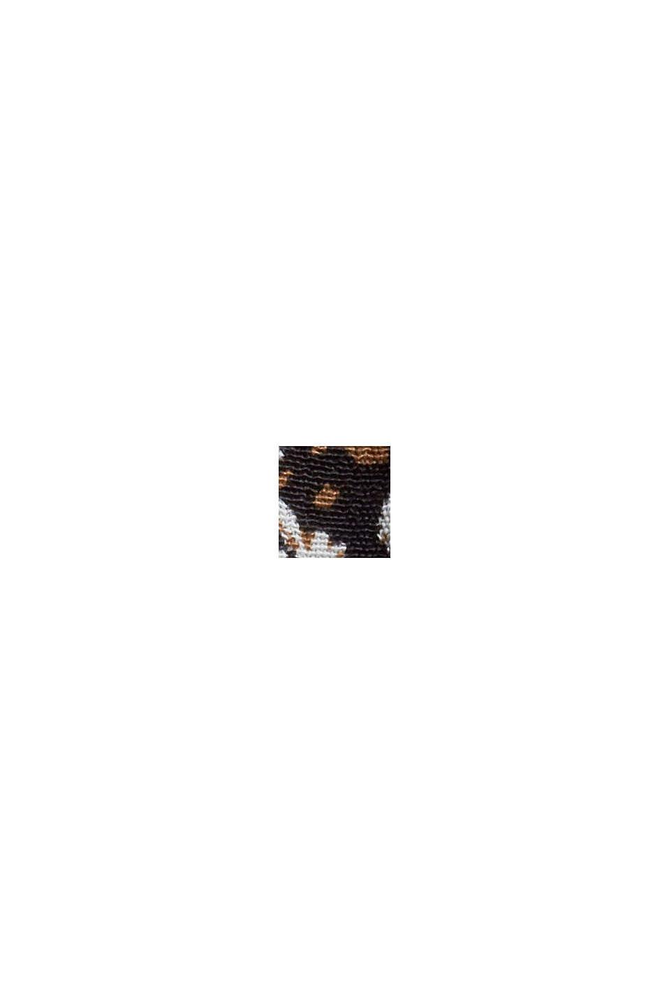 Weites Millefleurs-Kleid mit LENZING™ ECOVERO™, BLACK, swatch