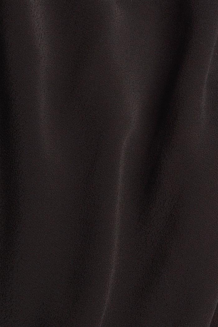 Midikleid aus Crêpe mit LENZING™ ECOVERO™, BLACK, detail image number 4