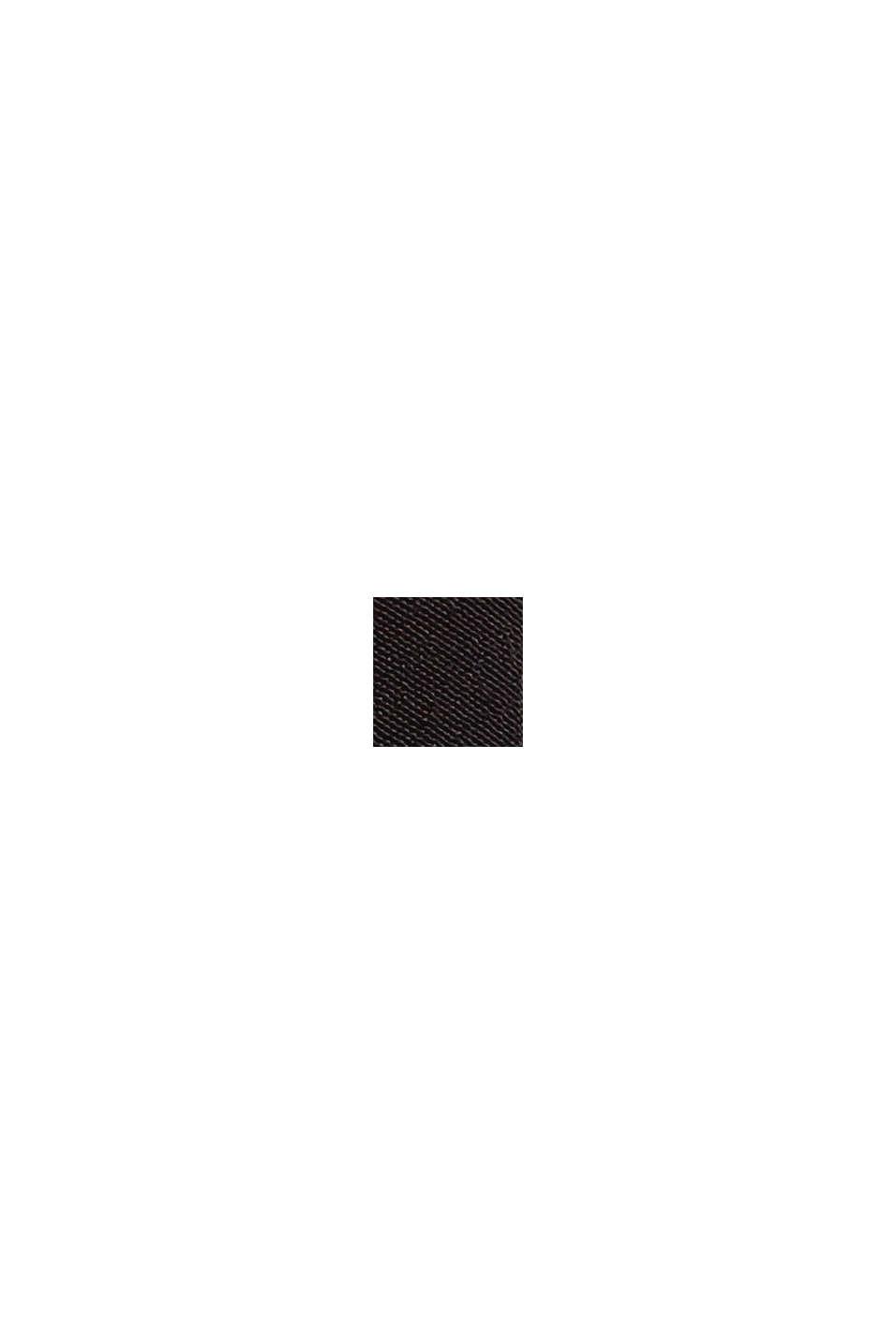 Midikleid aus Crêpe mit LENZING™ ECOVERO™, BLACK, swatch
