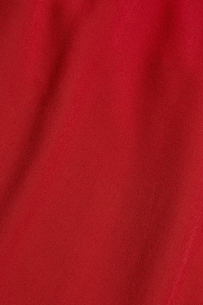 Midikleid aus Crêpe mit LENZING™ ECOVERO™, DARK RED, detail image number 4