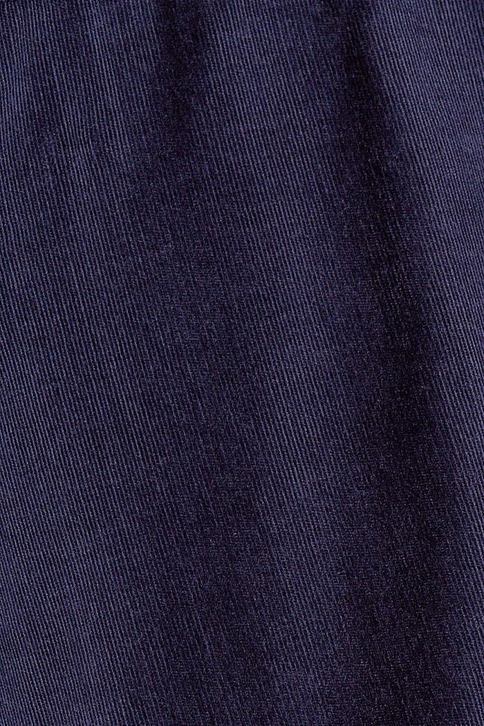 Hemdblusenkleid mit Gürtel aus Cord, NAVY, detail image number 4