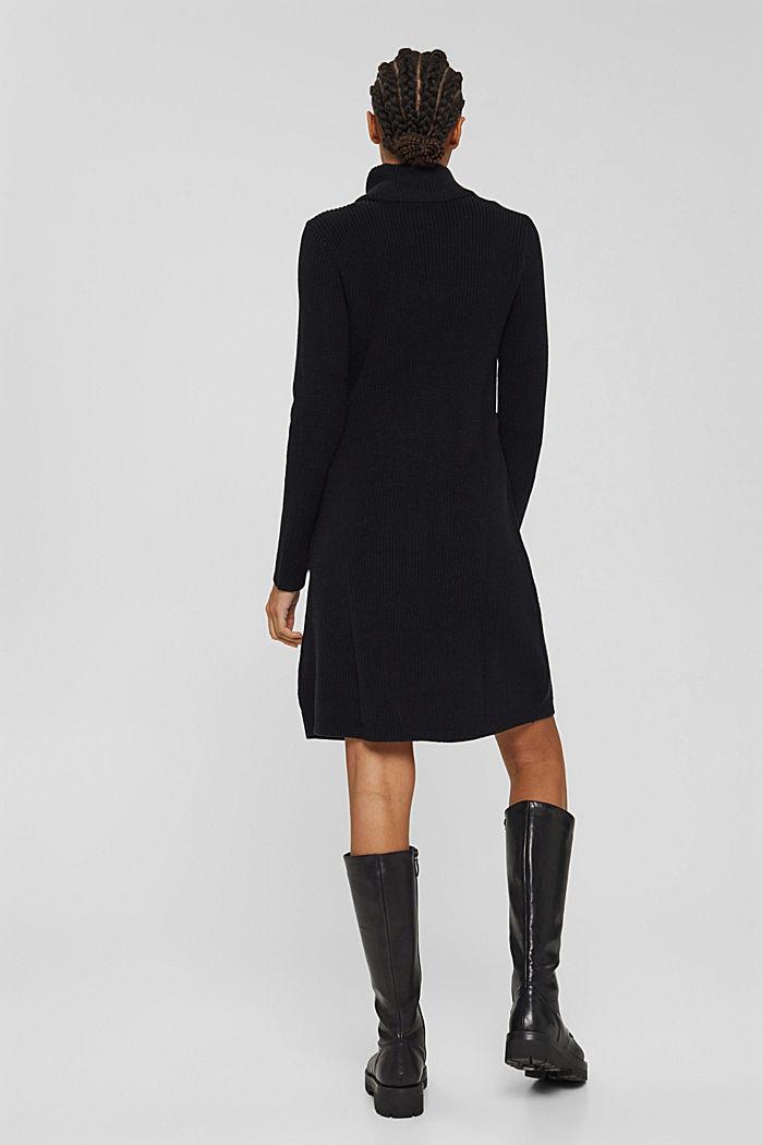 Knielanges Strickkleid aus Organic Cotton, BLACK, detail image number 2