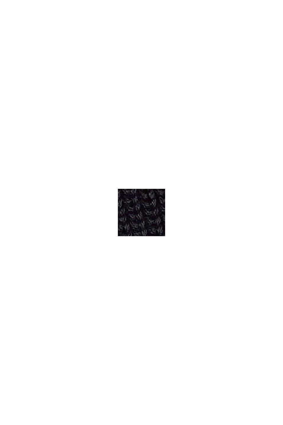 Robe en maille longueur genoux en coton, BLACK, swatch