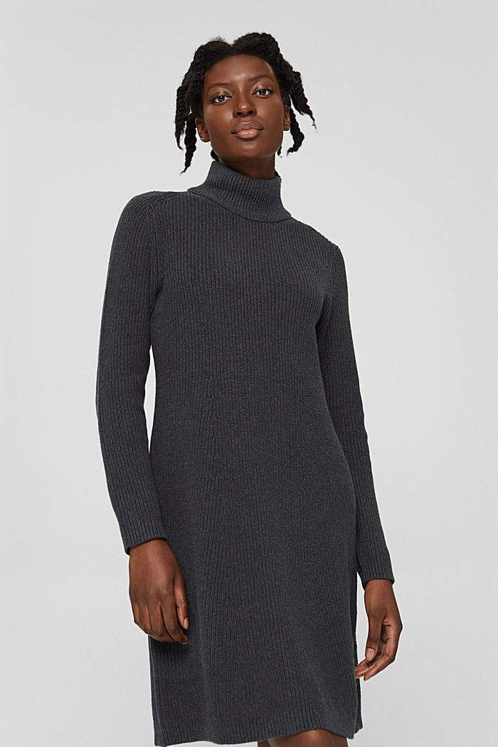 Dresses flat knitted, ANTHRACITE, detail image number 0
