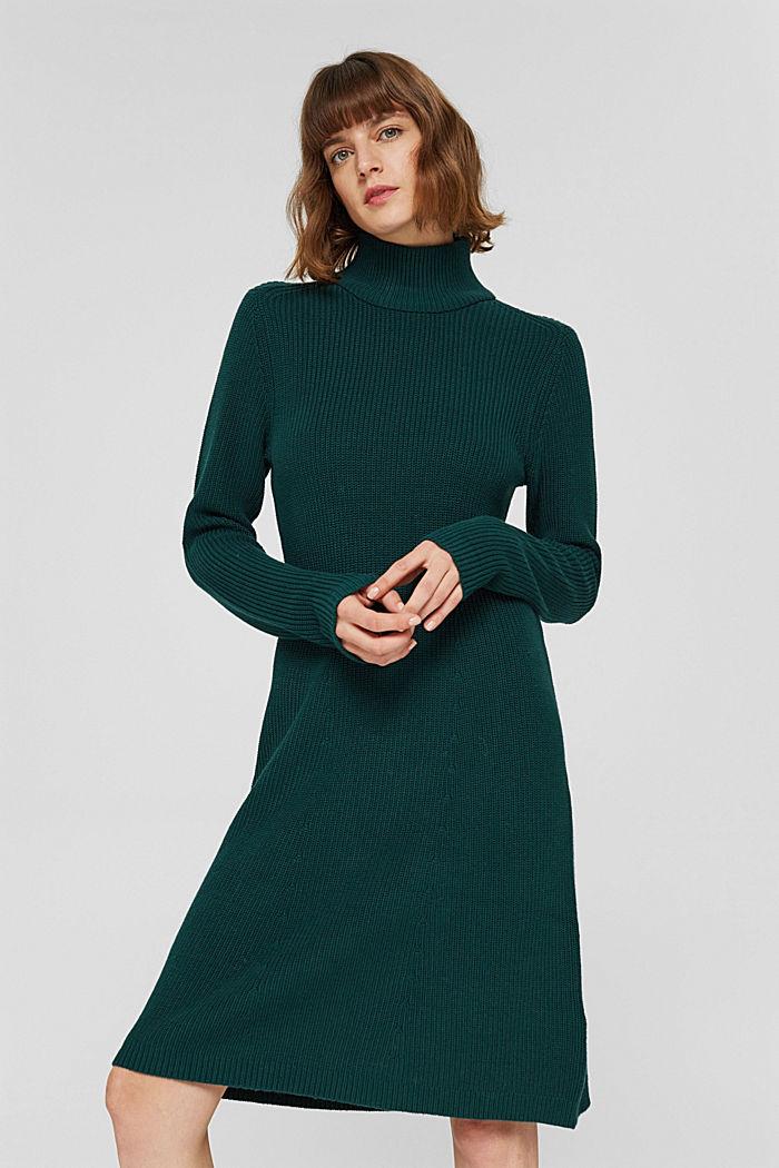 Robe en maille longueur genoux en coton