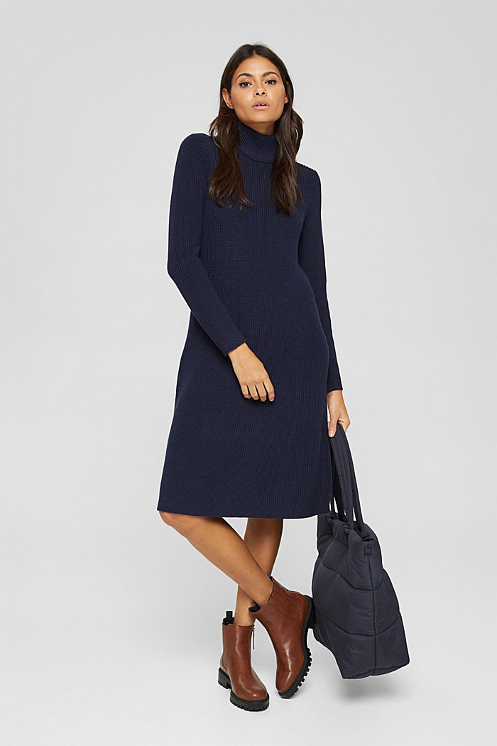 Dresses flat knitted, NAVY, detail image number 1