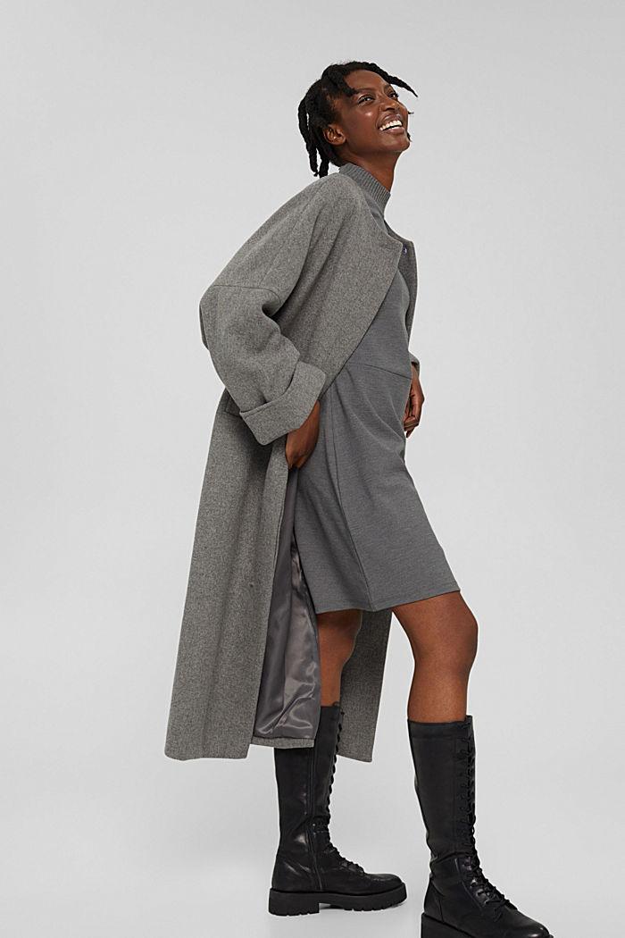 Dresses knitted, GUNMETAL, detail image number 1
