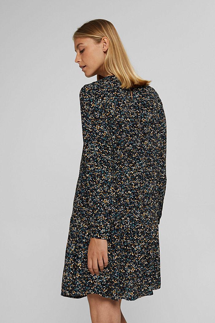 Robe à volants, motif mille-fleurs et teneur en LENZING™ ECOVERO™, NEW BLACK, detail image number 2