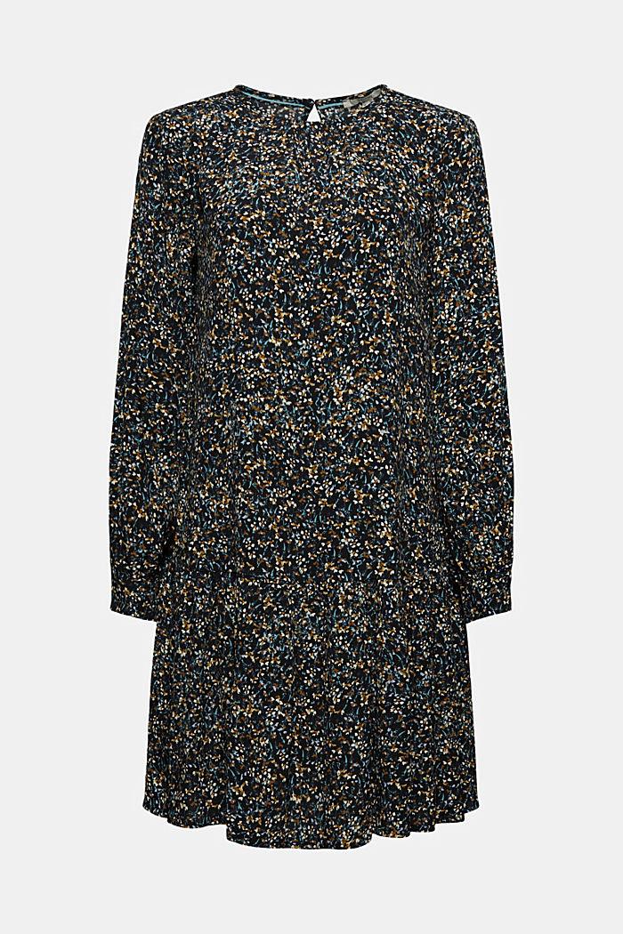 Mille-fleurs flounce dress with LENZING™ ECOVERO™
