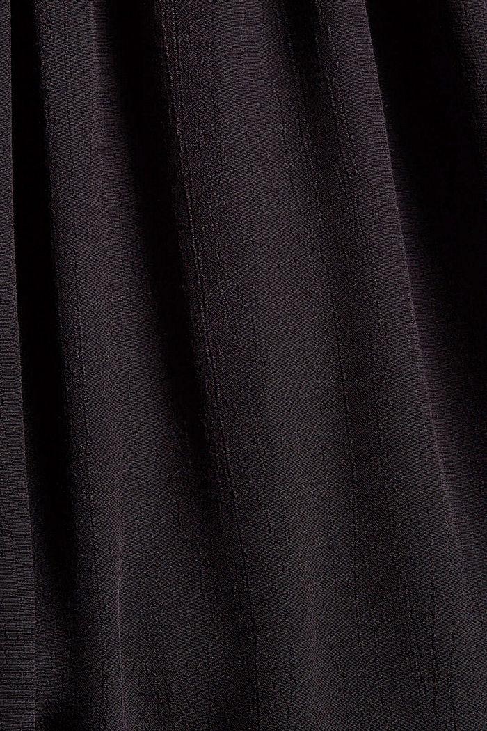 Chemisier en crêpe smocké en LENZING™ ECOVERO™, BLACK, detail image number 4