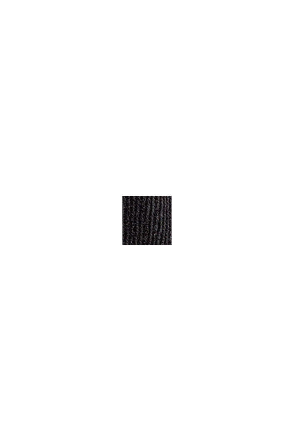 Gesmokte crêpe blouse van LENZING™ ECOVERO™, BLACK, swatch