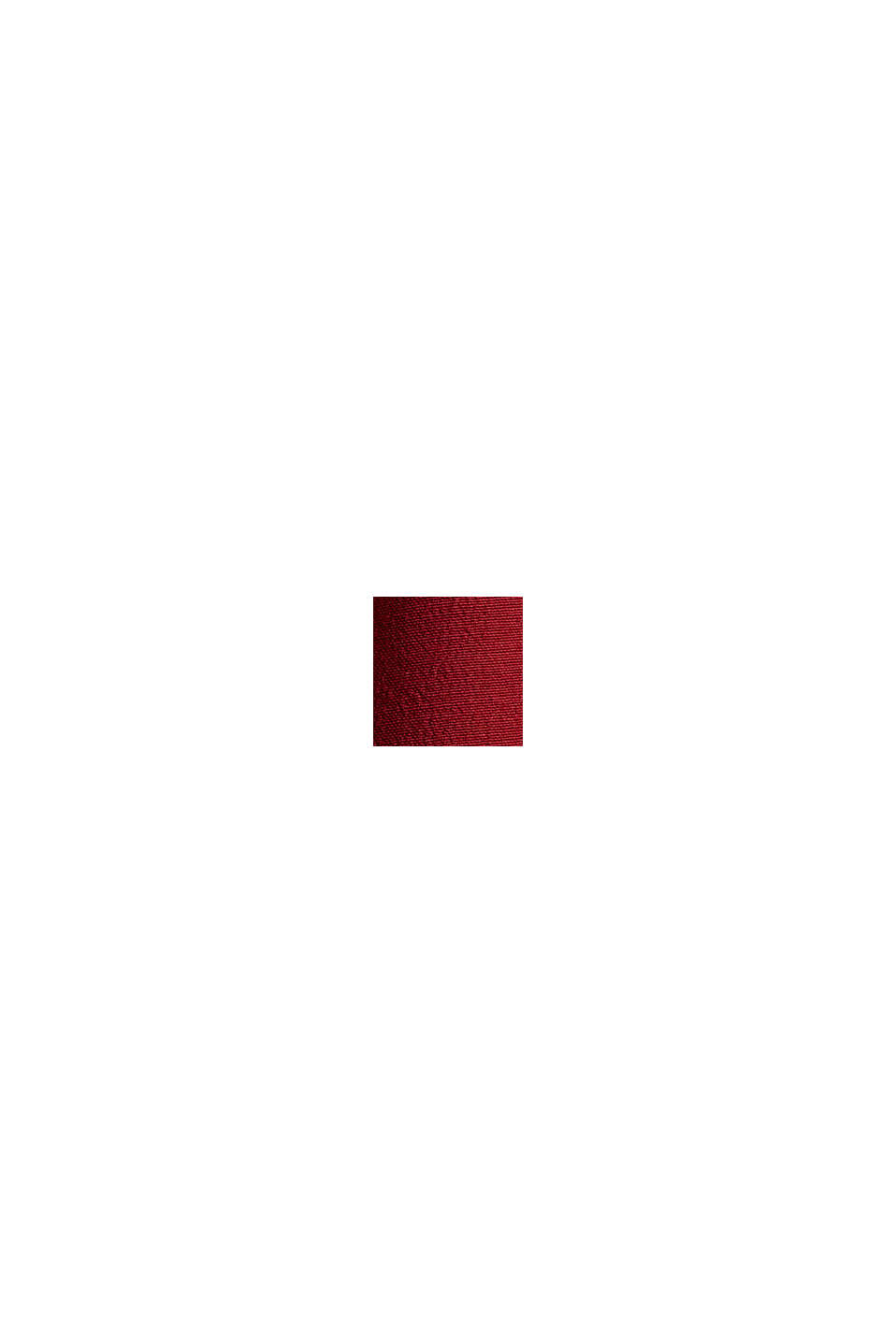 Gesmokte crêpe blouse van LENZING™ ECOVERO™, DARK RED, swatch