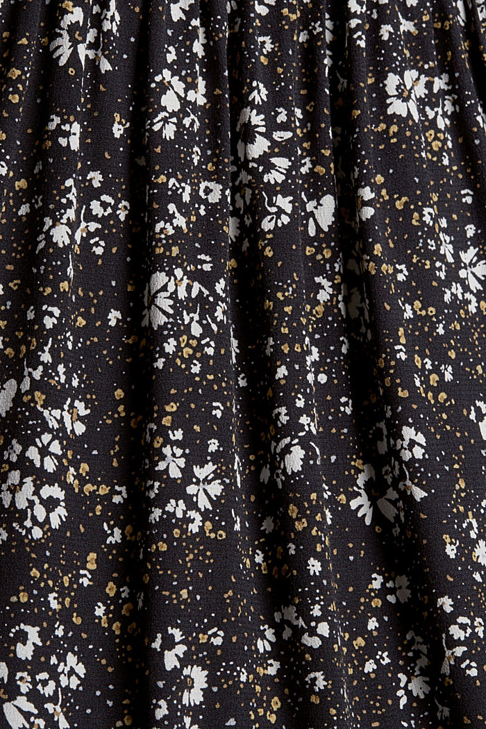 Millefleurs-Bluse mit LENZING™ ECOVERO™, BLACK, detail image number 4