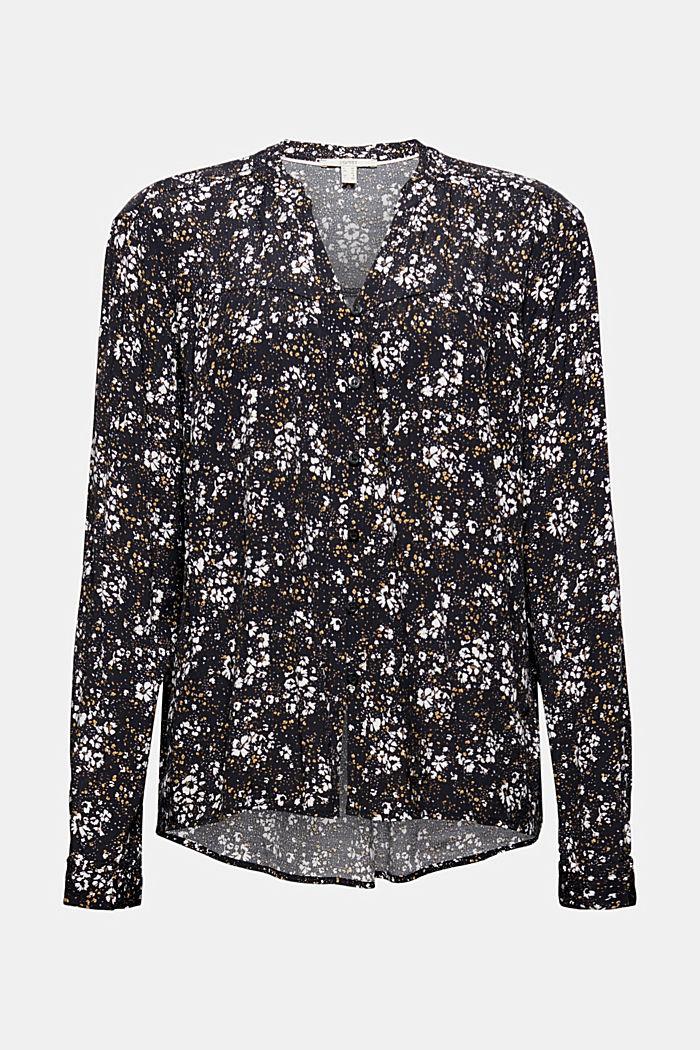 Millefleurs-Bluse mit LENZING™ ECOVERO™, BLACK, detail image number 5