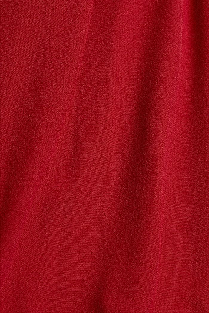 Henley-Bluse mit Rüschen, LENZING™ ECOVERO™, DARK RED, detail image number 4