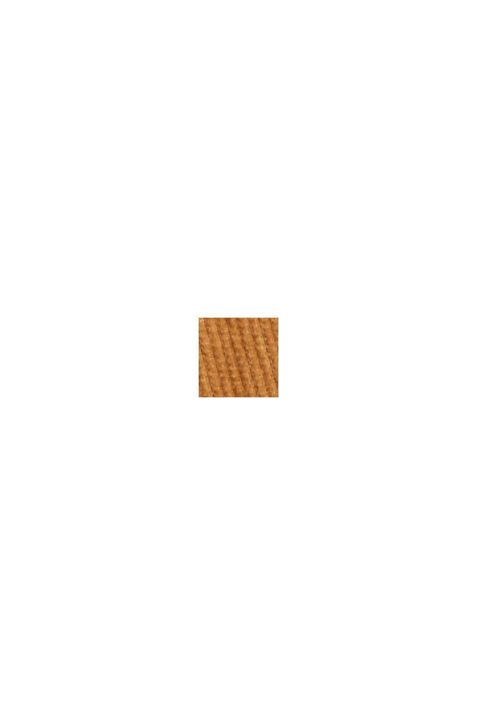 Feincord-Hemdbluse aus 100% Baumwolle, CAMEL, swatch