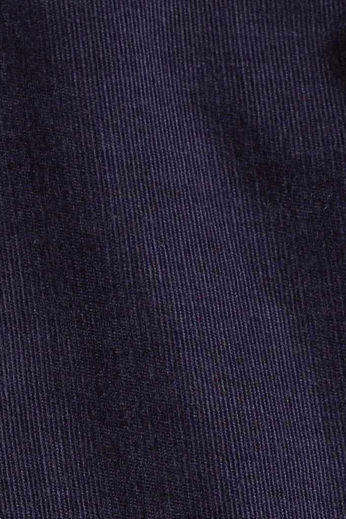 Chemisier en fin velours, 100% coton, NAVY, detail image number 4