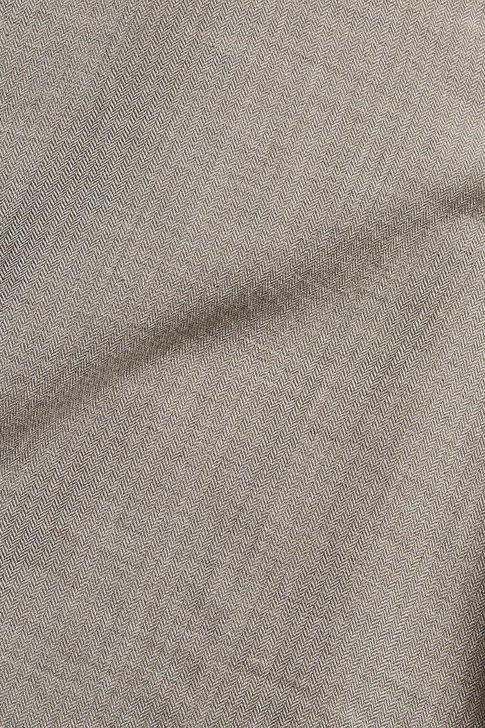 Hemdbluse mit Rüschen, 100% Baumwolle, GUNMETAL, detail image number 4