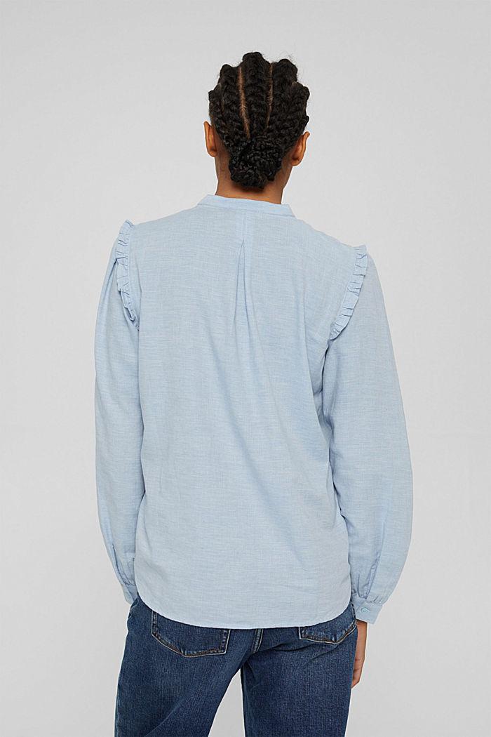 Blouses woven, LIGHT BLUE LAVENDER, detail image number 3