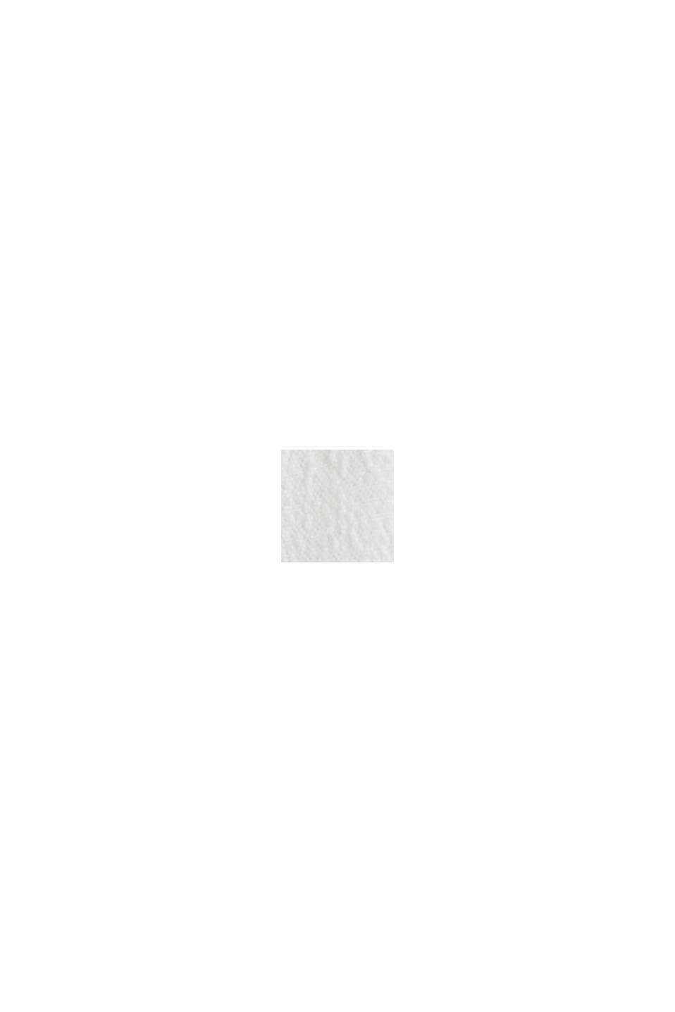 Soepele crêpe blouse met ruches, OFF WHITE, swatch