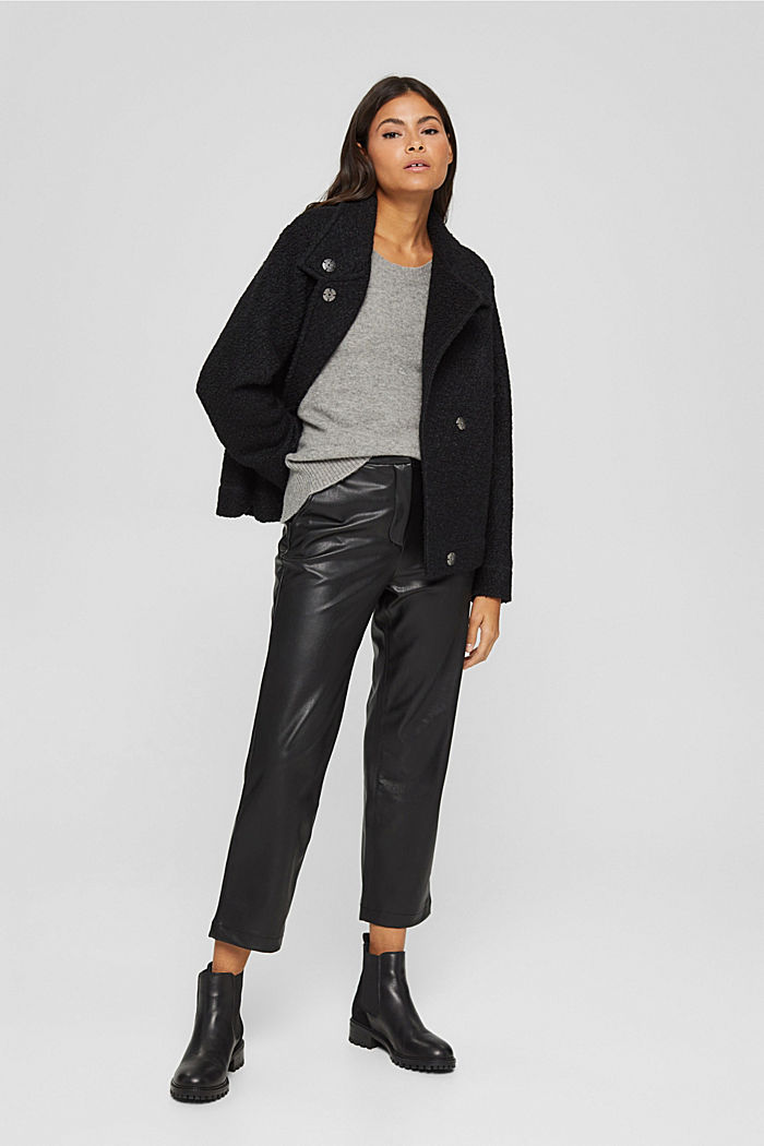 Jackets indoor woven, BLACK, detail image number 1