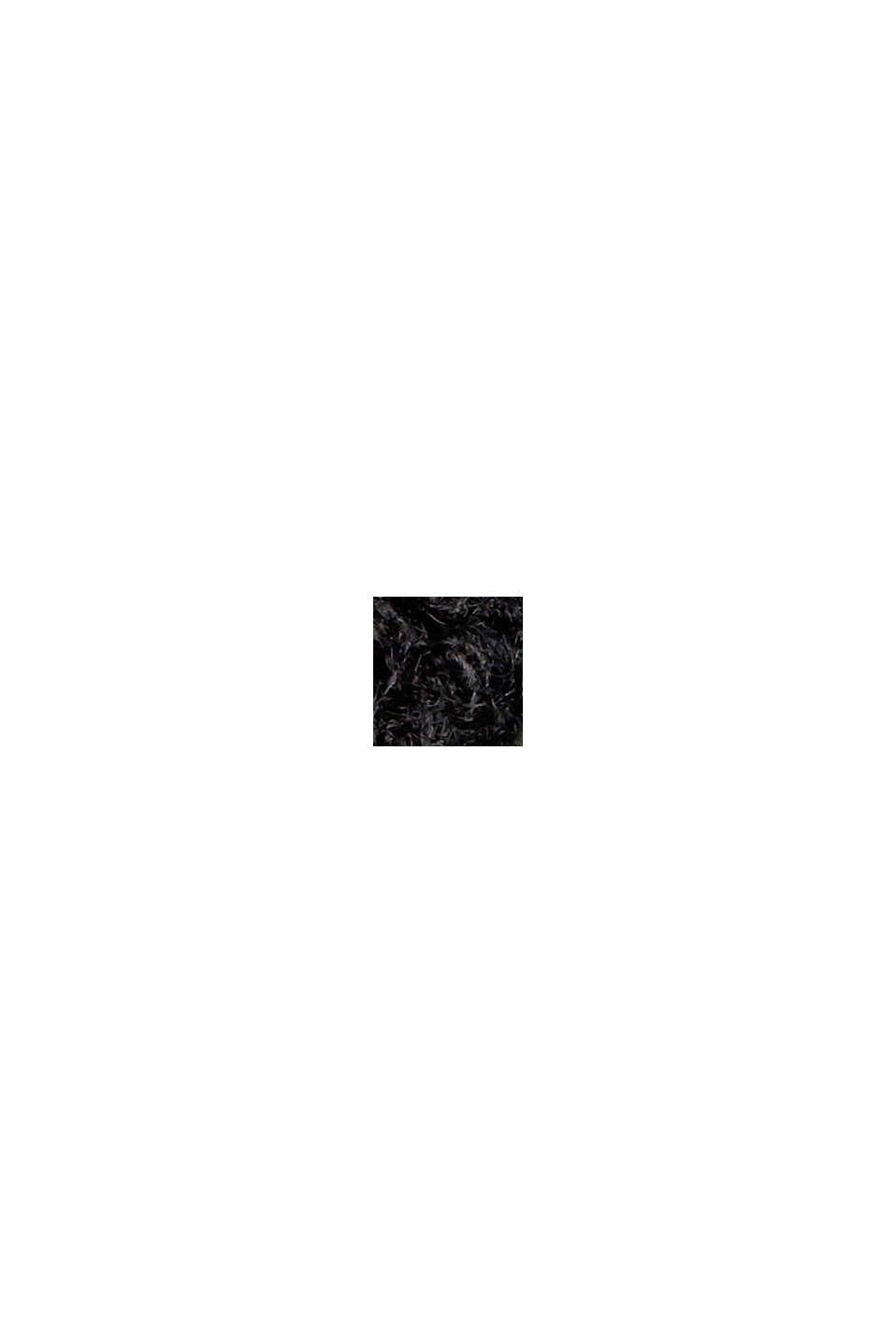 Mit Wolle: Bouclé-Jacke mit Stehkragen, BLACK, swatch