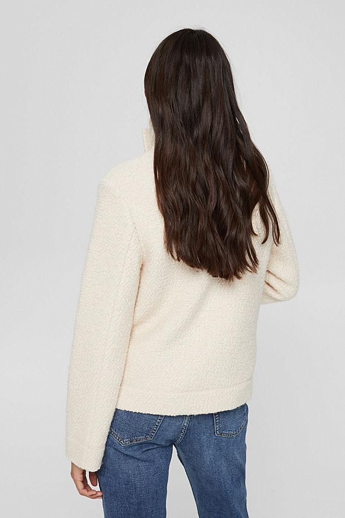 À teneur en laine: la veste en maille bouclette à col droit, ICE, detail image number 3