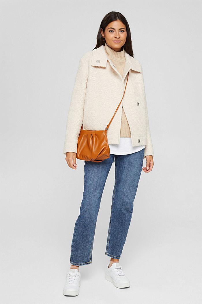 À teneur en laine: la veste en maille bouclette à col droit, ICE, detail image number 1
